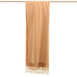 Cashmere Wool Scarf  Extra Large 28x74 Camel